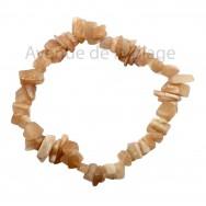 Bracelet élastique en Pierre du soleil - Le bonheur