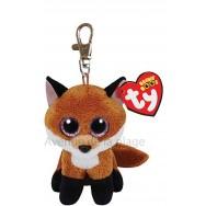 Peluche Ty Beanie Boo's porte clé Slick le renard