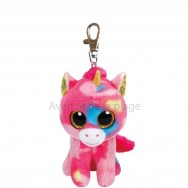Peluche Ty Beanie Boo's porte clé Fantasia la licorne rose