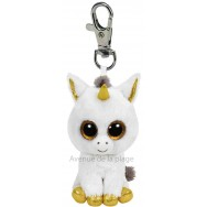 Peluche Ty Beanie Boo's porte clé Pegasus la Licorne blanche