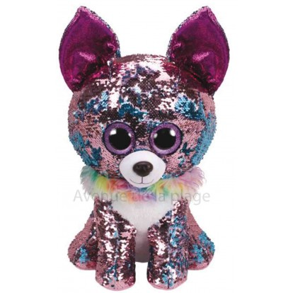Grosse peluche Ty Flippables Yappy le chihuahua 40 cm