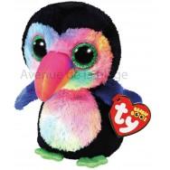 Peluche Ty Beanie Boo's Beaks le toucan 14 cm