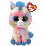 Peluche Ty Beanie Boo's Blitz la licorne bleue 15 cm