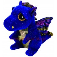 Peluche Ty Beanie Boo's Saffire le dragon bleu 14 cm