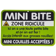 "Plaque de porte Danger ""Mini Bite"""