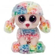 Peluche Ty Beanie Boo's Rainbow le caniche 14 cm