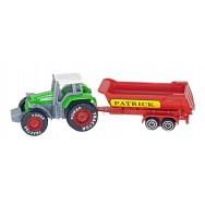 Tracteur avec remorque personnalisable au prénom