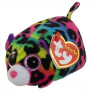 Peluche Teeny Ty Jelly le léopard multicolore