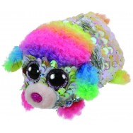 Peluche Teeny Ty flippables sequins Rainbow le caniche