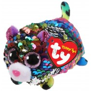Peluche Teeny Ty flippables sequins Dotty le léopard