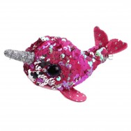 Peluche Teeny Ty flippables sequins Nelly le narval