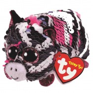 Peluche Teeny Ty flippables sequins Zoey le zèbre