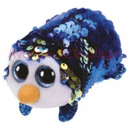 Peluche Teeny Ty flippables sequins Payton le pingouin