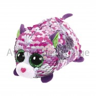 Peluche Teeny Ty flippables sequins Lilac le chat