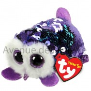 Peluche Teeny Ty flippables sequins Moonlight la chouette