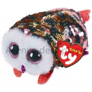 Peluche Teeny Ty flippables sequins Checks la chouette