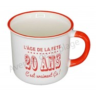 Mug L'âge de la fête 20 ans c'est vraiment ça
