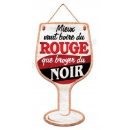 Pancarte en forme de verre de vin rouge