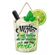 Pancarte en forme de verre de Mojito
