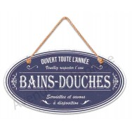 """Plaque de porte salle de bain """"Bains - Douches"""""""