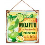 Pancarte métal le cocktail Mojito