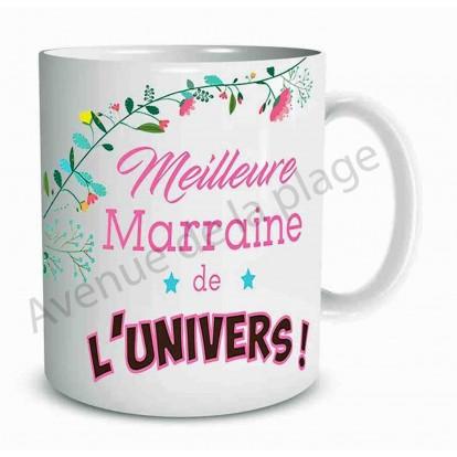 Mug cadeau Meilleure Marraine de l'univers