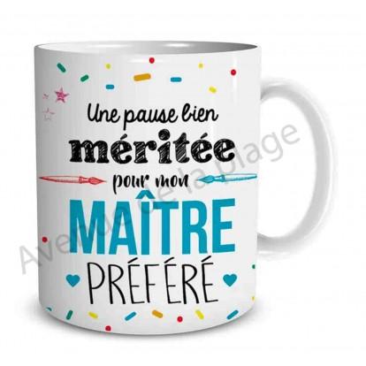 """Mug cadeau """"Mon Maître préféré"""""""
