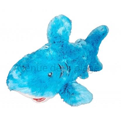 Requin en peluche 45 cm bleu