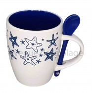 Mug avec cuillère étoiles de mer