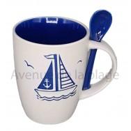 Mug avec cuillère voilier