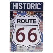 Plaque métal vintage Historic Route 66