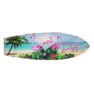 Surf à suspendre 3 Flamants roses sur la plage