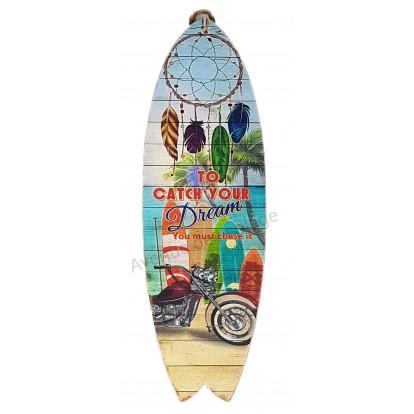 Surf à suspendre moto et attrape rêves