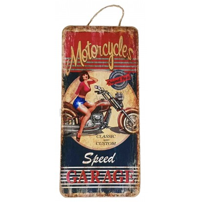 Pancarte vintage Motorcycles Speed Garage