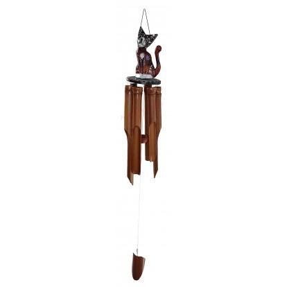 Carillon bambou chat
