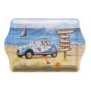 Plateau vide poche voiture 2 cv sur la plage