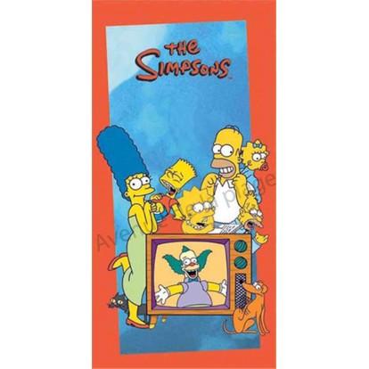 Serviette de plage La Famille Simpsons