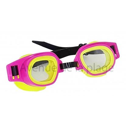 Lunettes de piscine pour enfant, modèle A rose et jaune