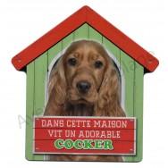 Pancarte Dans cette maison vit un adorable Cocker