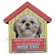 Pancarte Dans cette maison vit un adorable Shih Tzu