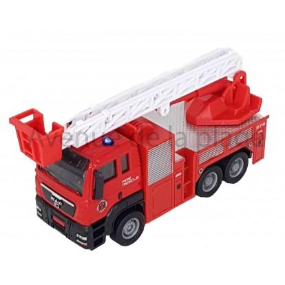 Camion de pompier avec grande échelle en métal 13 cm A