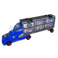 Camion de transport et 6 voitures