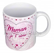 Mug coeur Maman je t'aime