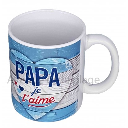 Mug coeur Papa je t'aime