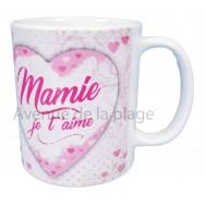 Mug coeur Mamie je t'aime