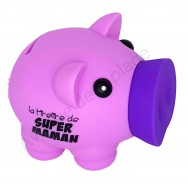 Tirelire cochon Super Maman