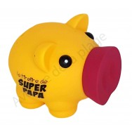 Tirelire cochon Super Papa