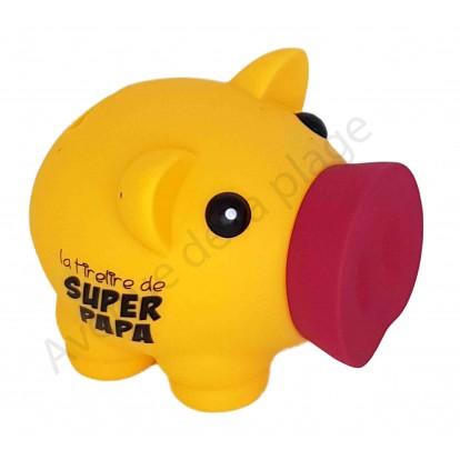 Tirelire cochon Super Papa