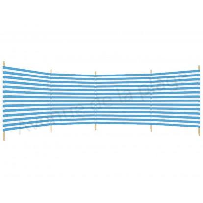 Paravent de plage 500 x 120 cm bleu et blanc