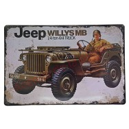 Plaque vintage Jeep Willys